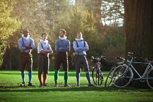 The HandleBards, the world's first bicycle-powered Shakespearean actors will be heading back to Northumberlandia in Cramlington.