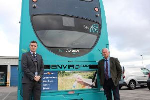 Stephen Wardle, Neighbourhood Services Area Manager and Cllr Glen Sanderson, Cabinet Member for Environment and Local Services.
