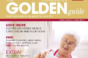 The front cover of The Golden Guide for Northumberland.