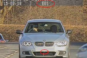 The device on the BMW car that illegally interfered with police camera equipment. Picture: North Yorkshire Police