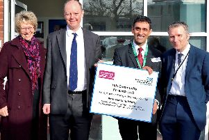 (From left) Dr Louise Wood; Professor Chris Whitty, Dr Nav Ahluwalia and Dr Rupert Suckling