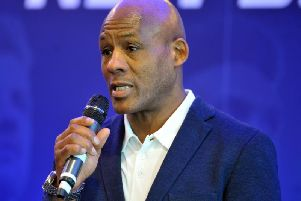 Ellery Hanley at the Betfred Super League launch earlier this year