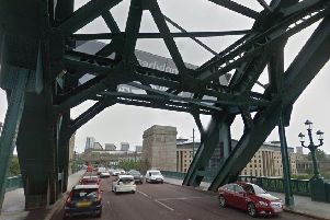 The Tyne Bridge.