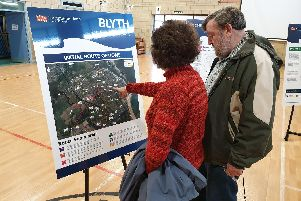 Residents take a closer look at the proposals.