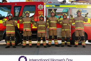 Firefighters from Northumberland Fire and Rescue Service.