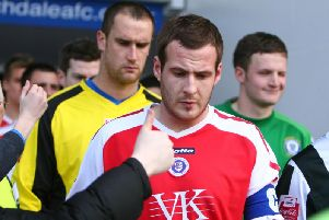 Leven was captain of the Spireites for a season