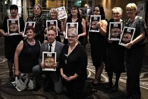 The Oaks Care Home team at The Great North East Care Awards 2018.