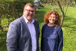 Northumberland Labour groups new leader and deputy leader, Couns Susan Dungworth and Scott Dickinson.