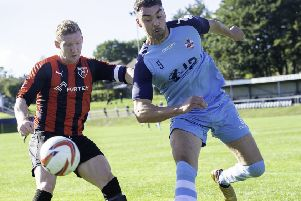 Joe Walton scored a 56th minute goal in Monday's NCE League Cup Final at Doncaster Rovers as his side produced a brave performance before going down 3-1 to champions Worksop Town. Picture: Allan McKenzie.
