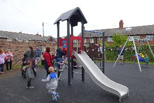 The new play park in New Hartley.
