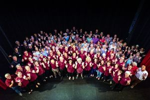 Members of the Playhouse Community Choir, the Playhouse Concert Bands and volunteers. Picture by Andrew Mounsey