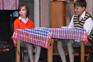 Archie Braid as Zach (left) and Cameron Cullen as William Beech (right) in Goodnight Mister Tom.
