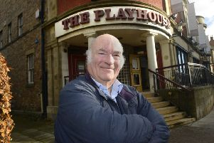 Keith Campbell outside the Playhouse.  Picture by Jane Coltman