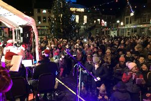 The Big Sing 2017 in Alnwick Market Place.