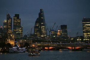 A view of the City of London. Morses Club successfully listed on AIM in May 2016.Photo:  Jonathan Brady/PA Wire