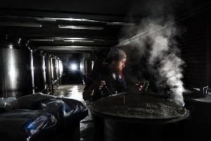 PICTURE EDITORS GUILD AWARD..BUSINESS PHOTOGRAPHER OF THE YEAR..Feature on Craft Brewery, Northern Monk, Marshall Mills, Leeds. Lead Brewer Adam Lyle is pictured in the brewhouse 18th September 2017 ..Picture by Simon Hulme