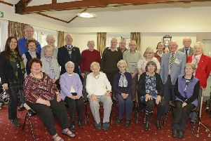 Alnwick Stroke Club members and volunteers at the  40th anniversary coffee morning at St Paul's Court. ' Picture by Jane Coltman