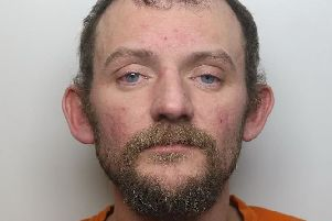 Pictured is motoring offender Frank Cotton, 33, of Stratton Road, Bolsover, who has been jailed for 18 weeks after he admitted drink-driving, driving without insurance and driving while disqualified.