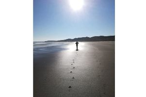 A beautiful sunny day and Bamburgh beach was all but deserted when Jane Foley got this beautiful photo. 179 Facebook likes