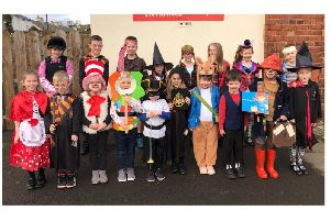Some of the children from Shilbottle Primary School dressed up for World Book Day.