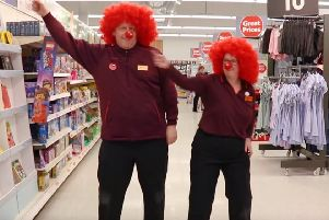 Boogie on down at Sainsbury's in Alnwick for Red Nose Day.