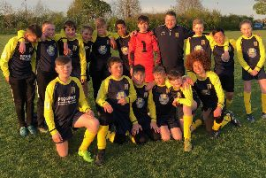 The Barlborough Junior Football Club's U13s, coached by Ben Everett, who competed at the event last year.