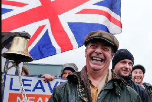 Nigel Farage in Hartlepool, on March 16