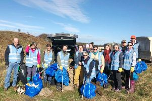 Some of the volunteers at Seaton Point.