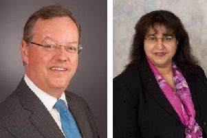 Northumberland County Council's leader, Peter Jackson, and chief executive, Daljit Lally.