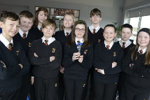 The Duchess's Community High School LEGO team.  Picture by Jane Coltman