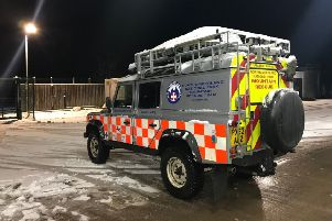 A Northumberland National Park Mountain Rescue vehicle.