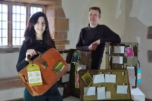 House steward Nick Lewis and visitor experience manager Hannah Douthwaite-Teasdale with some of the exhibits. Picture by Jane Coltman