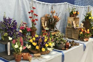 Some of the magnificent floral art entries at the Alnwick Spring Show.