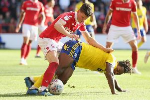 Sam Byram returned to the Nottingham Forest for the first time since August during the defeat at Sheffield Wednesday. (Photo by Alex Morton/Getty Images)