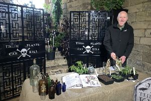 The Alnwick Garden's head gardener Trevor Jones at the event to highlight the best of the North East's tourist attractions.