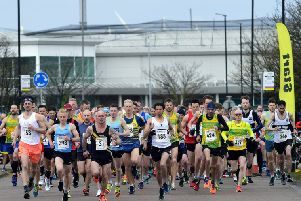 The Hartlepool Marina 5 Mile Road Race underway. Pics by Tom Collins.