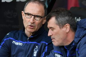 Martin O'Neill and Roy Keane during the defeat to Sheffield United.