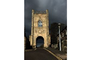 FIRST: Storm clouds behind the Pottergate Tower in Alnwick, captured by Jason Whiting. 810 Facebook likes