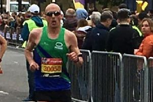 Stuart McNeil, who ran the race of his life in the London Marathon.