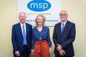 Chief Secretary to the Treasury Liz Truss with MSP founders Tony Brown, left, and Peter Hammond. Picture by Dru Dodd Photography