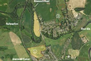 Northumberland Estates plans include 60 houses in area 1, near the station, and 41 homes to the north of Lesbury (area 2).