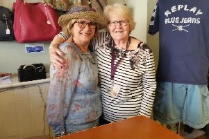 Volunteers at the Wear & Care shop in Wooler.