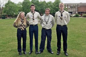 Duchess's Community High School students Oscar Wilson, Ethan Allan and Isabella Neri received Queen's Scout Awards.