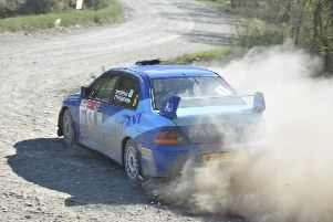 Russ Thompson in action at the Plains Rally''''''''Image courtesy of Carl Levold