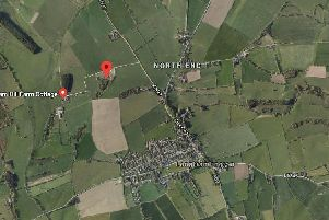 The disused quarry site to the north-west of Longframlington, where  a holiday park is proposed. Picture from Google