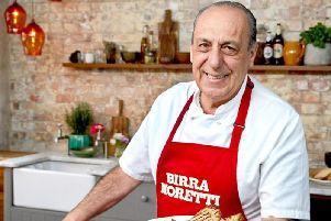 You take the table and chef Gennaro  Contaldo  does the cooking
