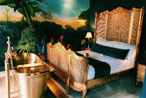 One of the individually-designed bedrooms