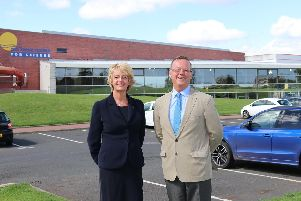Coun Cath Homer and Coun Peter Jackson at the Swan Centre in Berwick.