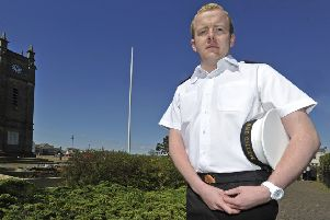 John Henderson pictured six years ago in his naval uniform in Amble.