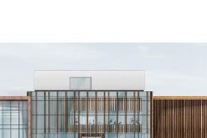 The front elevation of the proposed new Swan Centre in Berwick.